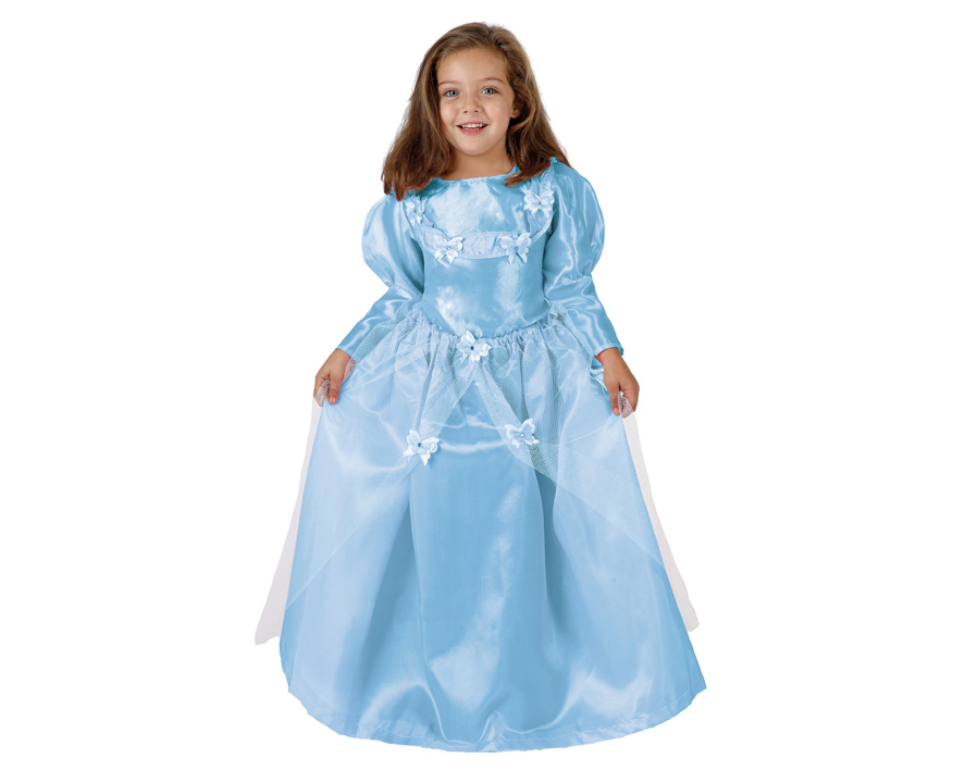 d guisement robe de princesse bleue 100 polyester pour petite fille. Black Bedroom Furniture Sets. Home Design Ideas