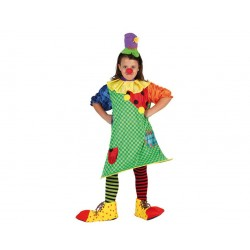Déguisement robe clown fille