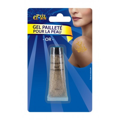 Tube de gel pailleté doré tube 20 ml