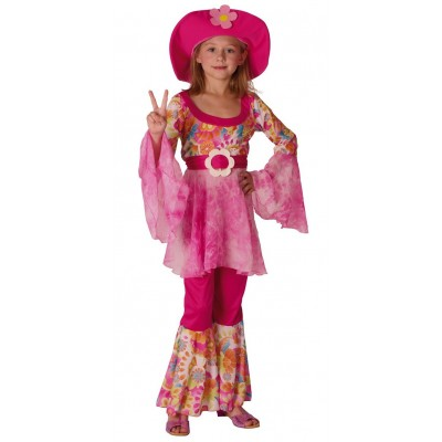 Déguisement de hippie fille flower power
