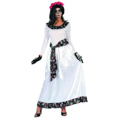 Costume adulte robe longue Day of the Dead - S/M