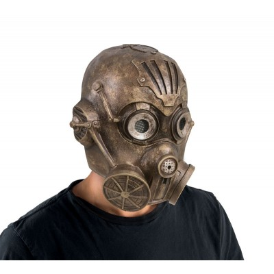 Masque adulte latex intégral robot steampunk