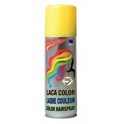 Bombe spray couleur cheveux jaune 125 ml