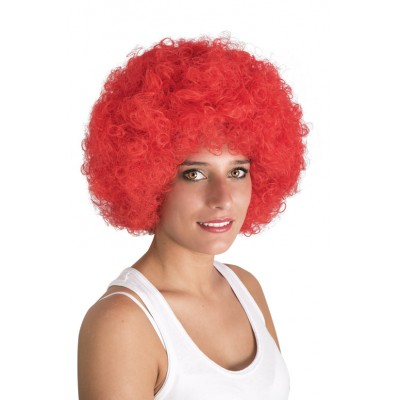 *Perruque afro rouge