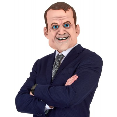 *Masque en latex Emmanuel Macron