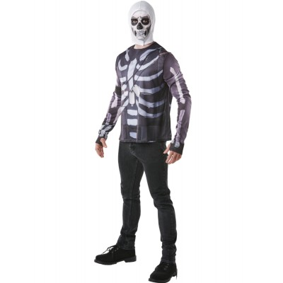 top + cagoule fornite skull trooper