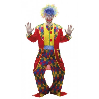 Costume adulte clown manteau