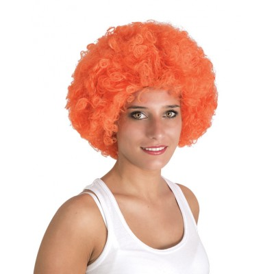 Perruque Willy - afro - orange