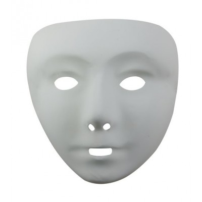 Masque adulte blanc PVC - taille 1