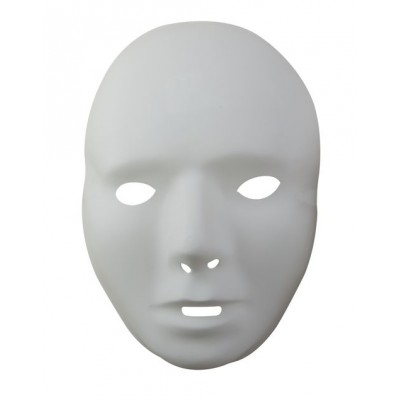 Masque adulte blanc PVC - taille 2