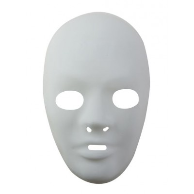 Masque adulte blanc PVC - taille 3