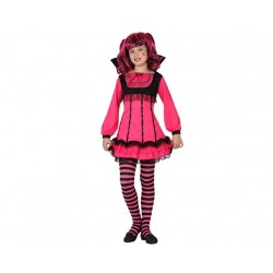 *Déguisement fille Monster rose fluo Halloween
