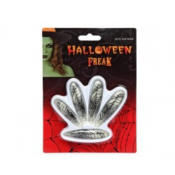 Faux ongles super longs toile d'araignée phosphorescents Halloween